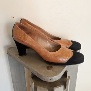 Vintage 70s Hill and Dale Suede & Leather Pumps